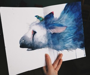 trico, the last guardian, and wate rcolor image