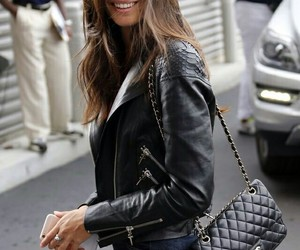 girl, jacket, and jeans image