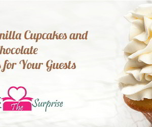 cupcakes, vanilla cupcakes, and red velvet cupcakes image