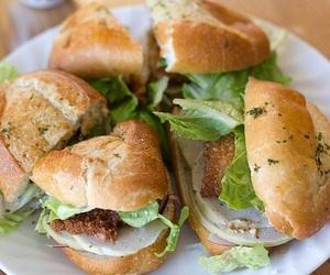 food, sandwich, and yum image