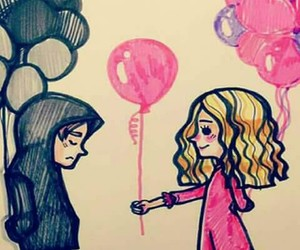 baloons, bff, and freands image