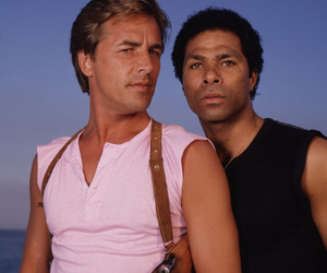 80s, beach, and don johnson image