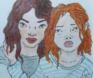 colour, drawing, and girls image