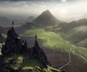 nature, mountains, and iceland image