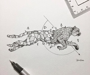 art, animal, and cheetah image