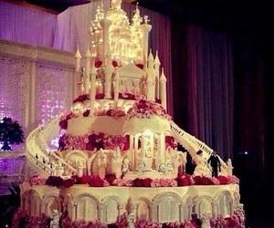 cake, wedding, and castle image