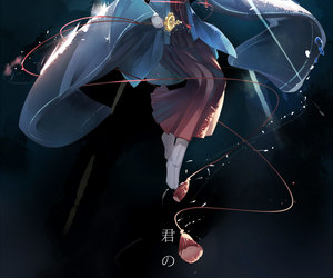your name, kimi no na wa, and mitsuha miyamizu image