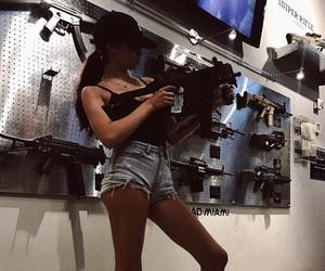 maggie lindemann, girl, and gun image
