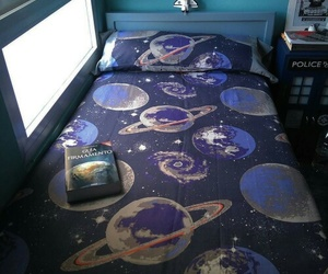 bed, planet, and room image