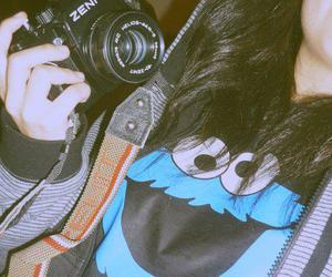 camera and cookiemonster image