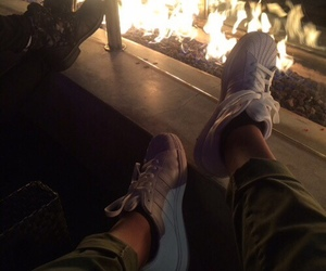 fire and adidas image