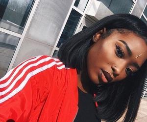 black, makeup, and melanin image