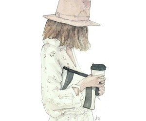 cool, fashion illustration, and hat image