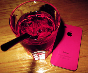 pink, drink, and iphone image