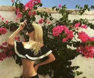bikini, black, and blondie image