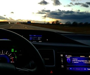 crusin, driving, and highway image