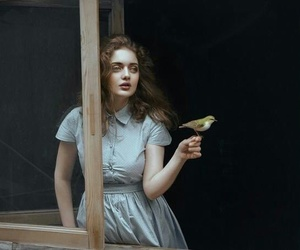 bird and girl image