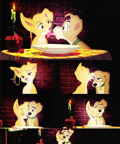 47 Images About Lady And The Tramp On We Heart It See More About Disney Lady And The Tramp And Dog