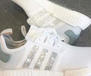 white sneakers, shoe goals, and adidas nmd image
