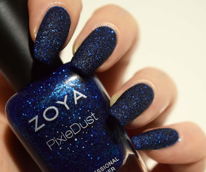 blue nails, nails, and pixie dust image