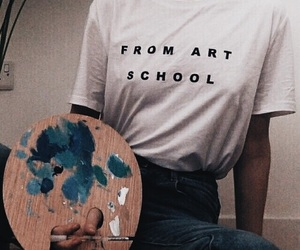 art, blue, and grunge image