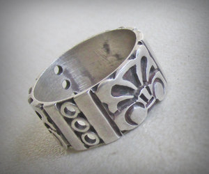 etsy, vintage jewelry, and silverring image