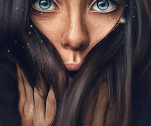 girl, art, and eyes image