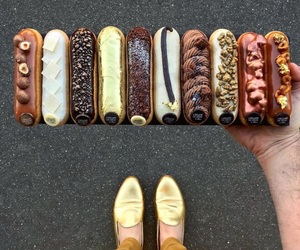 food, eclair, and cake image