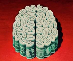 money, brain, and art image