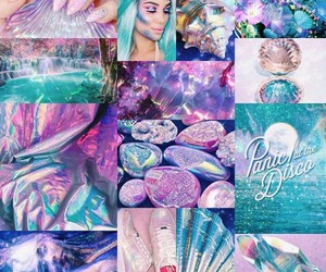 holographic, iridescent, and pastel image