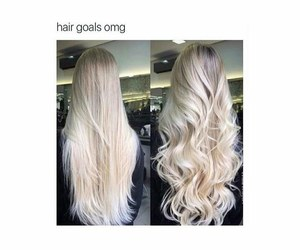 goals, hair, and blonde image