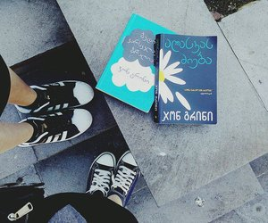 books, john green, and the fault in our star image