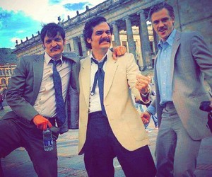 narcos, wagner moura, and pedro pascal image