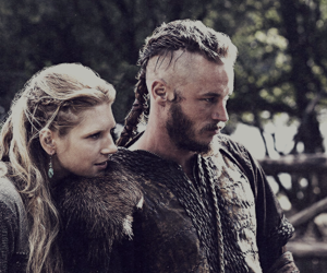 vikings, lagertha, and ragnar image