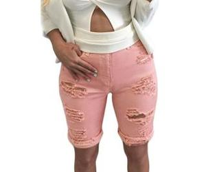 high waist, bermuda shorts, and shorts image
