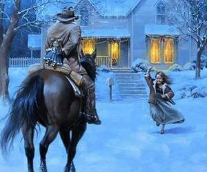 art, horses, and Houses image
