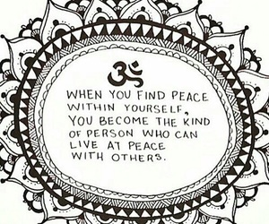 peace, quotes, and om image