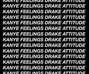 black, Drake, and feelings image