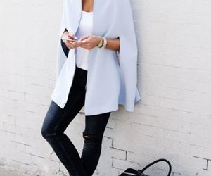 cape blazer, cape jackets, and cape poncho winter outfit image