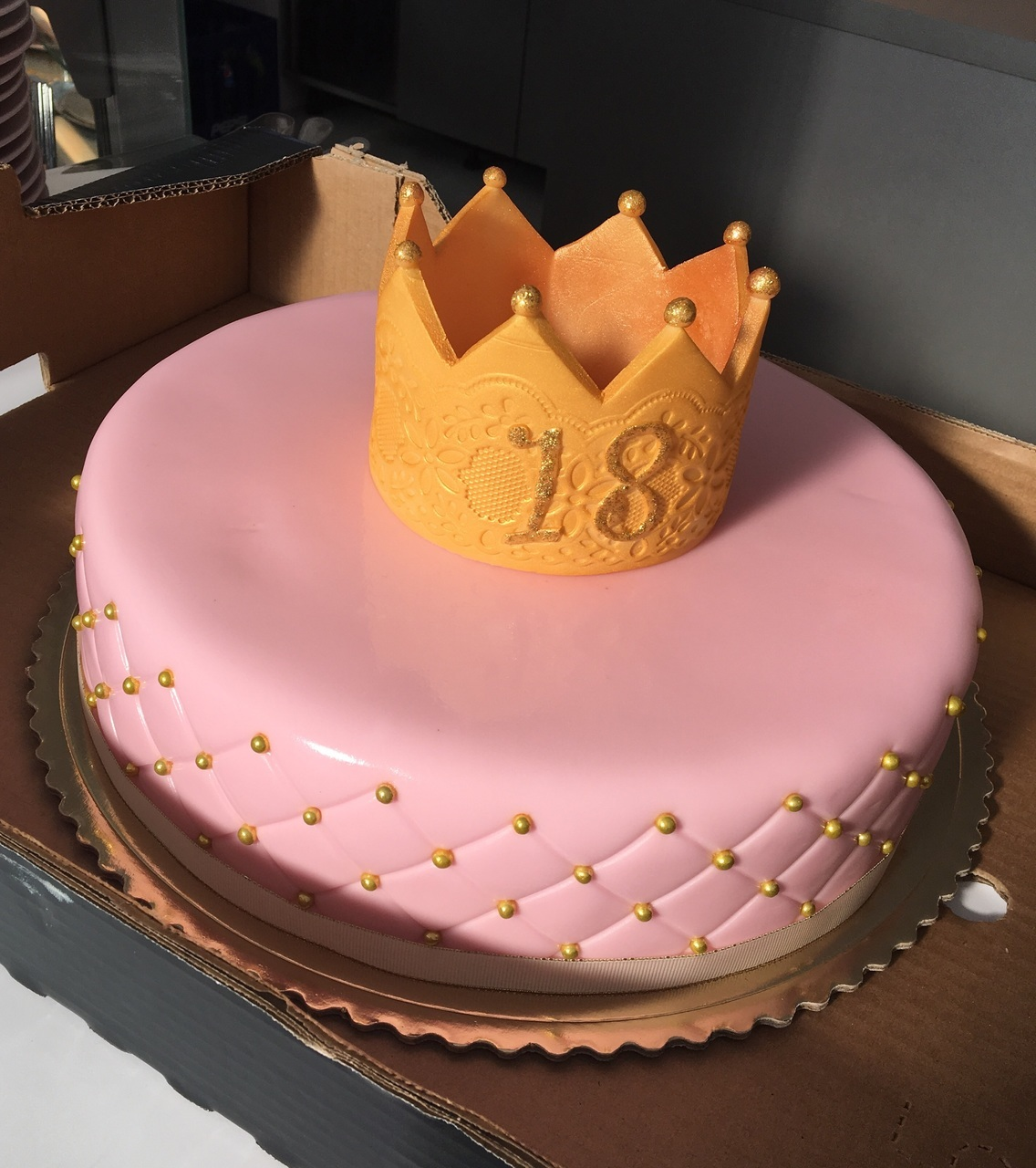 Birthday Party 18 18th Crown Princess Pink Cake Birthdaycake