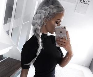 braid, iphone, and fashion image