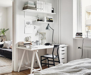 desk, minimalism, and work space image