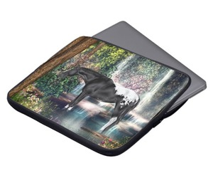 laptop sleeves, computer accessories, and appaloosa horse image