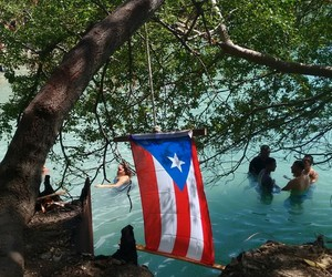 flag, nature, and ocean image