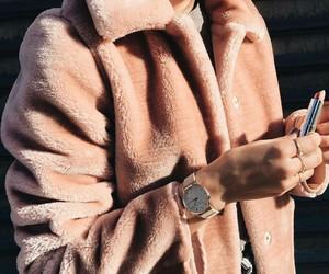 beige, fashion, and fur image