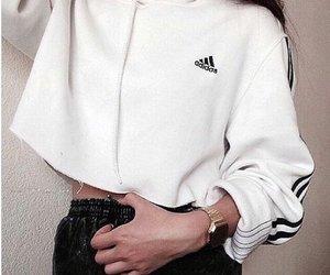 fashion, adidas, and white image