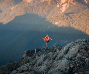 mountains, nature, and freedom image