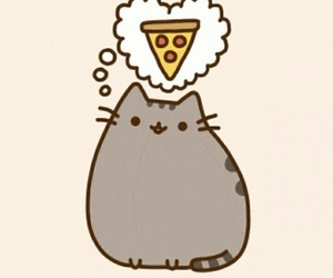 pizza, pusheen, and cute image
