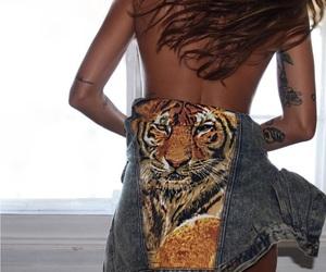 fashion, tiger, and denim image