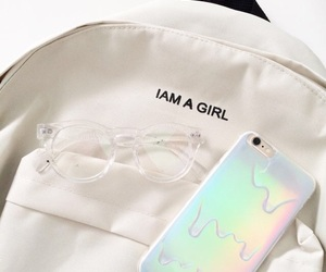 white, iphone, and bag image